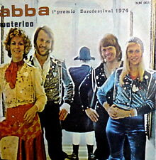 "ABBA  7"" WATERLOO  ITALY 1974 - EUROFESTIVAL LABEL DIG-IT PINK  - HONEY HONEY"