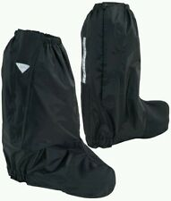 Rain Boot covers for Motorcycle Rididng black with reflective visibility medium