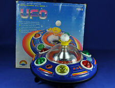 Lamiera/TIN TOY: UFO sotto tazza/Flying Saucer, Super blowing Ball, 1970, Cina