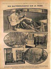 Médecin-Major Fièvre Paratyphoïde Laboratoire Analyse Bactériologie 1916 WWI