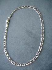 """10""""-STERLING SILVER ANKLE BRACELET- MARINA LINK- 3.6mm-MADE IN ITALY-925"""