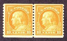 US 497 10c Franklin Mint Pair VF OG NH SCV $85