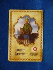 St Patrick  3rd class relic card