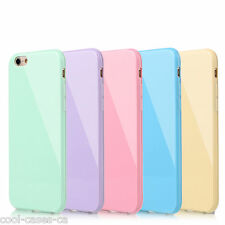 Genuine iCandy Gel Soft Pastel Colours Slim Case Cover for All iPhone Models