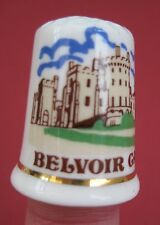 Vintage thimble Belvoir Castle, Fenton china company