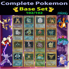 EX COMPLETE Pokemon BASE Entire Full Card Set/102 Holo Charizard Machamp 1st ed