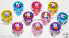 10 PCS PEPPA PIG STAMPS STAMPERS PARTY FAVORS FOR CANDY BAGS GIFTS BIRTHDAY TOYS
