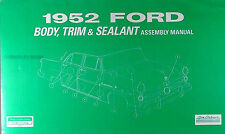 1952 Ford Car Body and Interior Assembly Manual 52 Trim Seats Windows Top More