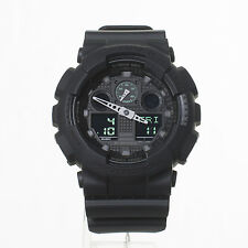 Casio G-Shock Matte Black w/Green Accents Men's Watch GA100MB-1A Fast Shipping