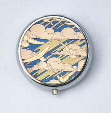 Art Nouveau Doves and Clouds Pill case pillbox pill holder design Pattern