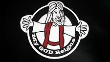 Christian, Car Magnet, My God Reigns, Jesus, God,  Decoration, Jesus magnet,gift