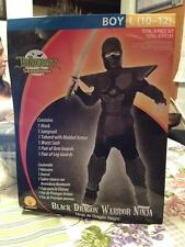 Rubie's Boys Black Dragon Warrior Ninja Halloween Costume 10-12 8 Piece Set New