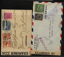 Chile  2  censor covers , one registered to US #s 2226 and 4074        KL0122