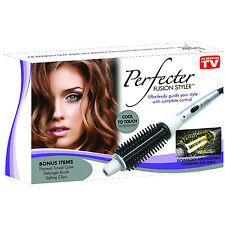 PERFECTER FUSION STYLER WITH TRAVEL BAG DETANGLE CURLING BRUSH AND STYLING CLIPS