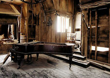 Framed Print - Run Down Old Grand Piano in an Abandoned House (Picture Poster)