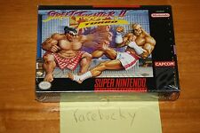 Street Fighter II Turbo (SNES Super Nintendo) NEW SEALED V-SEAM, NEAR-MINT RARE!