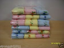 PROMOTION Lot of 12  Ladies Floral Handkerchiefs Cotton Hankies Vintage Inspired