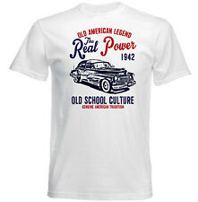 VINTAGE AMERICAN CAR CADILLAC 60 1942 - NEW COTTON T-SHIRT