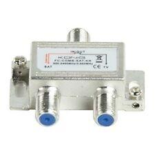 SATELLITE TV AERIAL SIGNAL COMBINER SPLITTER DIPLEXER VHF UHF F SAT