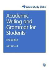Academic Writing and Grammar for Students by Alex Osmond (Paperback, 2015)