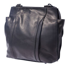 Backpack Purses Bag Italian Genuine Leather Hand made in Italy Florence B017 bk
