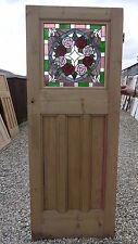 XSG02A (29 1/2 x 77 1/4) old reclaimed 1930's Stained glass external door