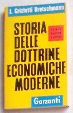 STORIA DELLE DOTTRINE ECONOMICHE MODERNE -Garzanti 1961