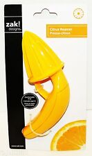 "ZAK DESIGNS CITRUS FRUIT 6.69"" HAND PLASTIC REAMER JUICER YELLOW TOOL GADGET NEW"