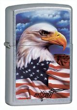 Zippo 24764, Mazzi-Freedom Watch, Street Chrome Finish Lighter, Full Size