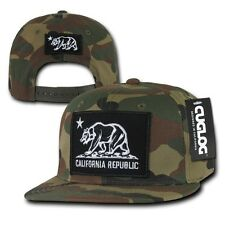 California Republic Camouflage Snapback Camo Cali Bear Flag Cap Hat Caps Hats