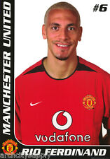 POSTER: SOCCER : RIO FERDINAND - MANCHESTER UNITED  - FREE SHIP #SP0091  RW19 Y