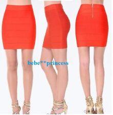 NWT bebe orange red zipper back princess bandage mini dress skirt XS 0 2 club