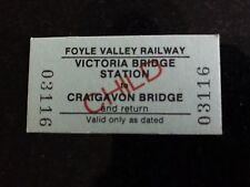 Foyle Valley Railway Train Ticket Railways Victoria Bridge to Craigavon Bridge