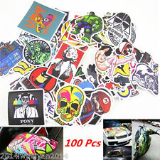 100Pcs Sticker Bomb Decal Vinyl Roll Car Racing Skate Skateboard Laptop Luggage
