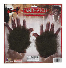 Dark Brown Werewolf Hand Patch Fur for Hands Body Face Synthetic Animal Fur