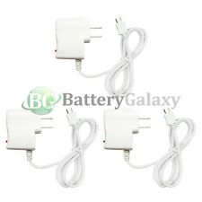 3 White Rapid Fast Micro USB Battery Home Wall Travel AC Charger For Cell Phone