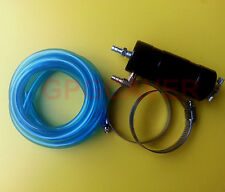 Go Kart Cart Racing Motor Oil Overflow Engine Catch Tank Can Kit with BLUE Hose