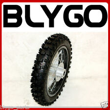 "BLACK 12mm Axle 3.00- 12"" Inch Rear Back Wheel Rim Knobby Tyre PIT PRO Dirt Bike"