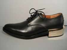 GIVENCHY CLASSIC BLACK LEATHER LOAFERS MEN INSPIRED LOW GOLD HEELS 37 NEW