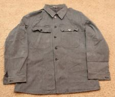 VINTAGE MILITARY SURPLUS UNIFORM SWISS ARMY DENIM WORK JACKET SZ LG 52