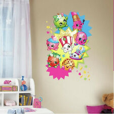 SHOPKINS Group large wall sticker MURAL 1 decal grocery characters fries popcorn