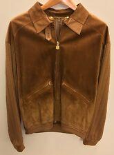 Bijan Camel Suede Zip Jacket Size 56