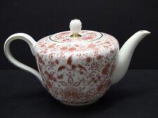 ROSENTHAL 3655 Helena Orange Red Bird Floral Gold Trim 6 Cup Teapot