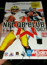 BOOKLET/MANUAL ONLY FOR NFL QB CLUB 2002  PS2 (NO GAME) -  FREE POST