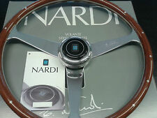 NARDI ANNI 50 steering wheel mahogany with rivets and glossy spokes size 380 mm.