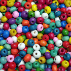 600 x Brights Mix Wooden Seed Beads 5 x 6 mm ( 30g) W336 CRAFT CHILDRENS BEADS