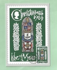 Isle of Man IOM 1984 Official Post Office Christmas Xmas Card 13p Stamp Noel