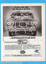 QUATTROR966-PUBBLICITA'/ADVERTISING-1966- SIPEA - ANTIFURTO BLOCCASTERZO
