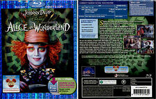 ALICE IN WONDERLAND - Blu-Ray+Digital Copy NUOVO e SIGILLATO, SLIPCASE RILIEVO
