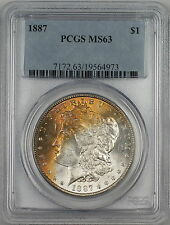 1887 Vam-11 Morgan Silver Dollar $1 Coin Pcgs Ms-63 *Nicely Toned Obverse* Rl